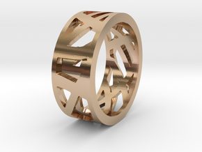 Double Sided Ring in 14k Rose Gold Plated Brass: 7 / 54