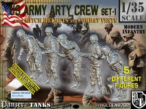 1/35 US Arty Crew Cold Weather Set1 in Smooth Fine Detail Plastic