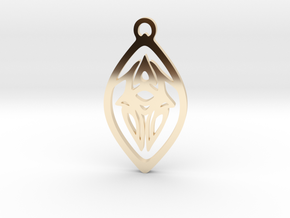 Squid Pendant in 14k Gold Plated Brass