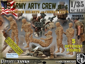 1/35 US Arty Crew Hot Weather Set6 in Smooth Fine Detail Plastic
