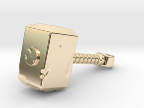 DAMAGED THOR HAMMER in 14K Yellow Gold