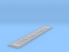 Nameplate USS Los Angeles in Smoothest Fine Detail Plastic