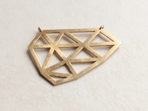 Polygon Pendant in Natural Brass