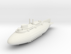 Airship Battlecruiser in White Natural Versatile Plastic