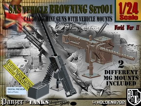 1/24 Browning cal 50 M2 set001 in Smooth Fine Detail Plastic
