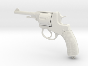 Nagant M1895 in White Natural Versatile Plastic: Small