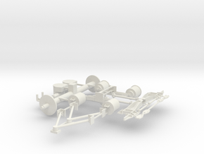 Iveco-Fiat 6x2 Air Suspension 1/24 in White Natural Versatile Plastic