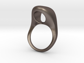 supPOrt Ring in Polished Bronzed Silver Steel: 3 / 44