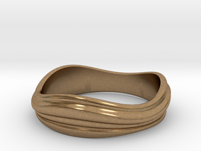 Ebb and Flow Ring No.2 - Size 7 in Natural Brass