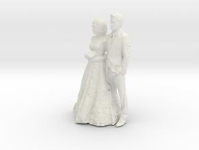Printle C Couple 122 - 1/87 - wob in White Natural Versatile Plastic
