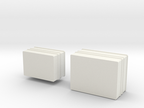 Metal boxes ARGO in White Natural Versatile Plastic