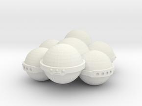 3125 Scale Koligahr Short Carrier MGL in White Natural Versatile Plastic
