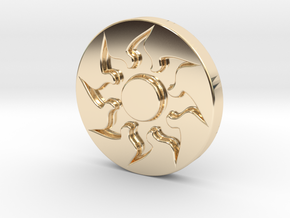 Plains Token in 14k Gold Plated Brass