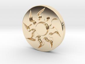 Plains Token in 14k Gold Plated Brass