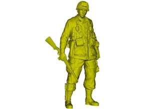 1/15 scale D-Day US Army 101st Airborne soldier in Smooth Fine Detail Plastic