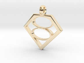 Smallville House of El necklace V2 in 14k Gold Plated Brass