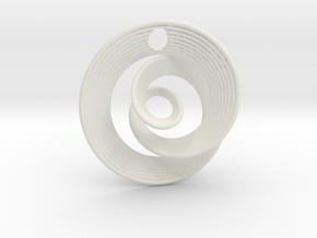 Mobius IX in White Natural Versatile Plastic