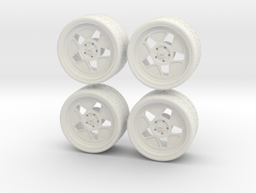 1:24 hoonicorn wheels in White Natural Versatile Plastic