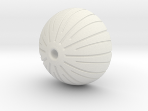 Acorn Bead in White Natural Versatile Plastic