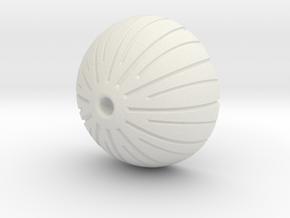 Acorn Bead in White Strong & Flexible