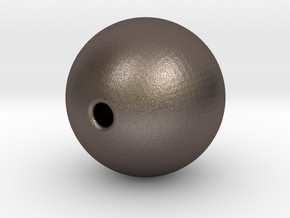 Ball 10mm Bead in Polished Bronzed Silver Steel
