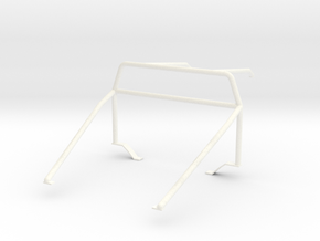 Roll cage 1/12 V2 in White Processed Versatile Plastic