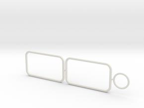 1:12 Airfix Austin A35 W&G Van Frames in White Natural Versatile Plastic