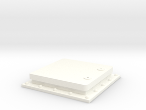 1 deck hatch, in 1:35 in White Processed Versatile Plastic