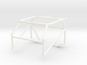 Roll cage 1/25 V6 in White Processed Versatile Plastic