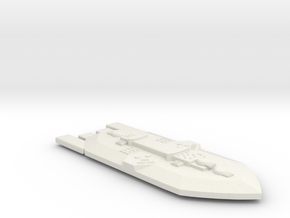 3788 Scale Frax Battleship (BB) MGL in White Natural Versatile Plastic
