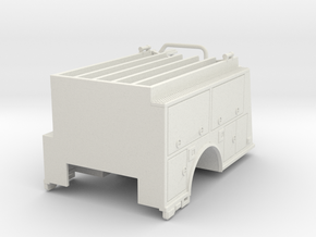 1/87 KME body with Compartment Doors #2 in White Natural Versatile Plastic