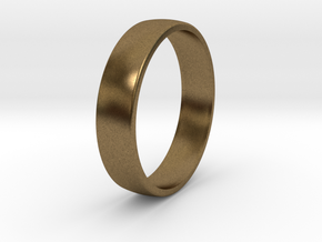 Outer ring for DIY bicolor ring in Natural Bronze