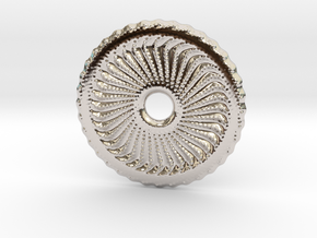 Dot painted pendant or earrings in Platinum