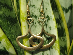 Drop 1 Earrings in Natural Brass