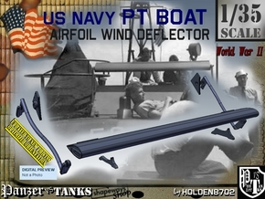 1/35 PT Boat Airfoil Wind Deflector Set001 in Smooth Fine Detail Plastic