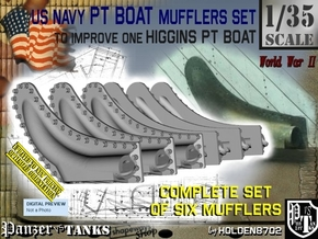 1/35 PT Boat Higgins Muffler Set101 in Smooth Fine Detail Plastic