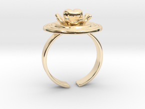 """""""Impact of Love"""" 17.3mm US 7, Japan 14 in 14k Gold Plated Brass"""