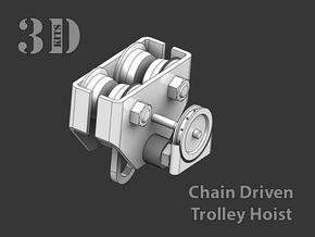 CHAIN DRIVEN TROLLEY in Smoothest Fine Detail Plastic