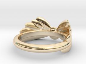 Arcangel Ring UK Size J in 14k Gold Plated Brass