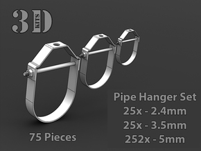 Pipe Hangers in Smoothest Fine Detail Plastic