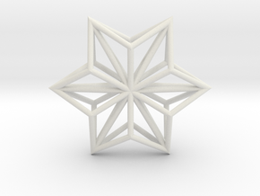Origami STAR Structure, pendant in White Premium Strong & Flexible
