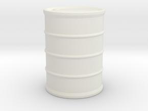 Hazmat Suit / Barrel / 1:32 in White Natural Versatile Plastic