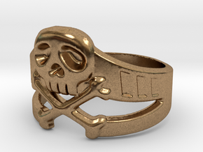 Space Captain Harlock | Ring Size 10.5 in Natural Brass