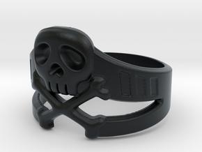 Space Captain Harlock | Ring Size 10.5 in Black Hi-Def Acrylate