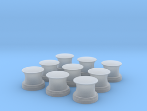 1/192 USSS BB59 Capstan set x9 in Smooth Fine Detail Plastic