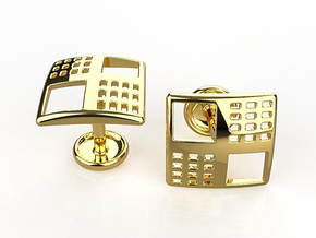 Kna-2 Cufflinks in 14K Yellow Gold