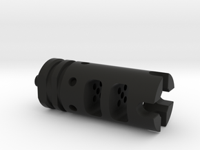 AR15 Flash Hider Tritium Keychain in Black Natural Versatile Plastic