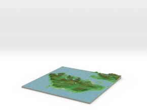 Terrafab generated model Mon Jan 29 2018 21:48:00  in Full Color Sandstone