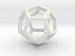 Regular Dodecahedron Mesh in White Natural Versatile Plastic