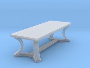 Miniature Hudson Rectangular Arc Table - Hudson in Smooth Fine Detail Plastic: 1:24